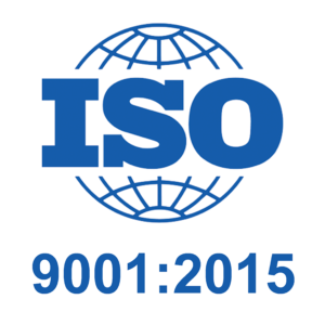Logo for ISO 9001:2015 certification